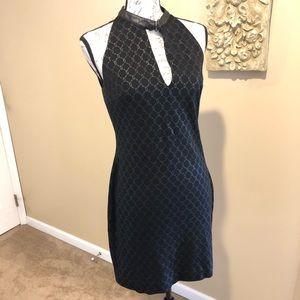 LAUNDRY By Shelli Segal Choker Buckle Neck Dress